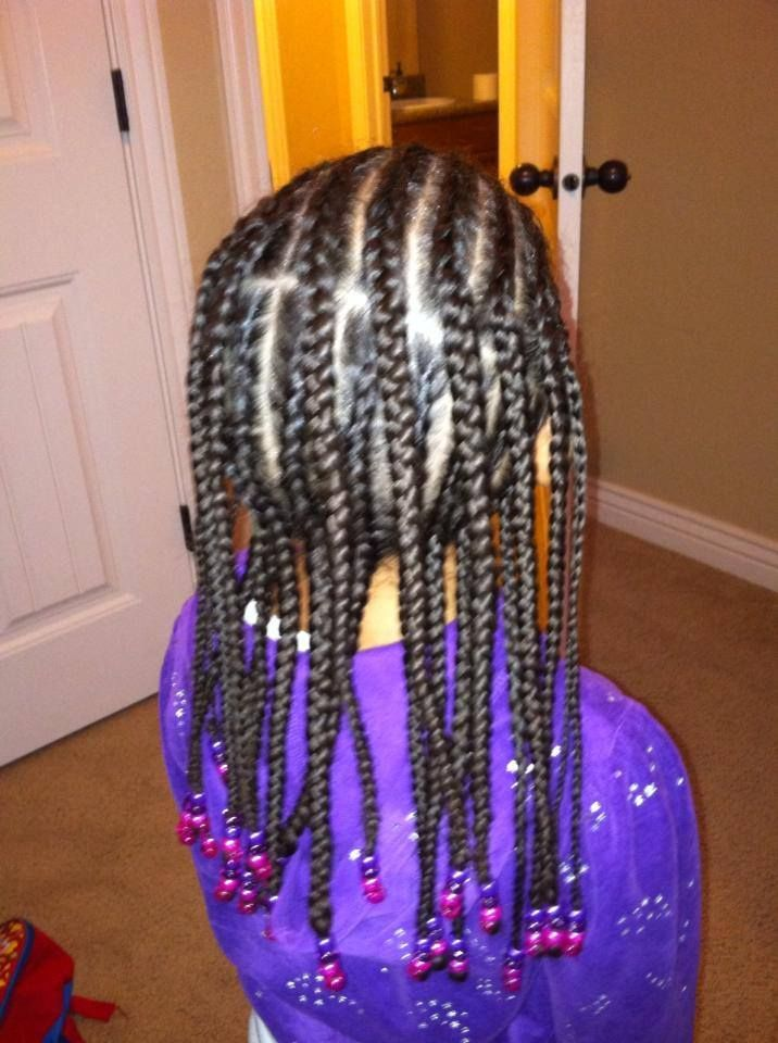 Cornrows Half Back And Down With Beads Https Www Facebook Com Alltwistedutahbraiding Kid
