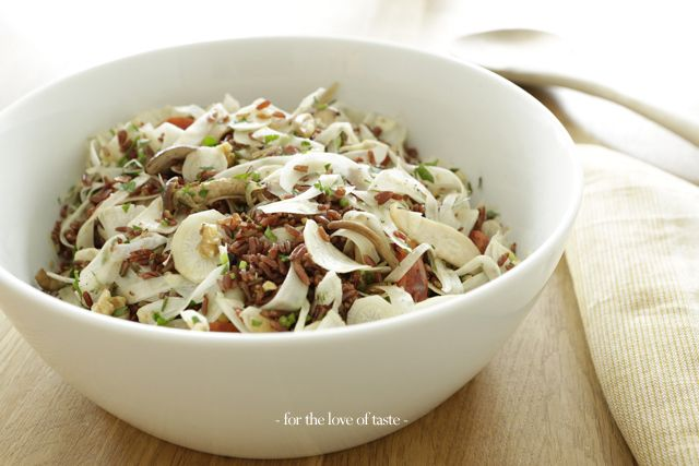 Red rice salad with parsley root  ------------------------------------------ Rijst salade met wortelpeterselie  by - for the love of taste -  http://wp.me/p3aCoi-x3