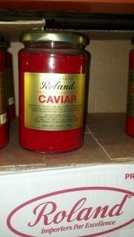 Roland: Red Lumpfish Caviar.  http://affordablegrocery.com