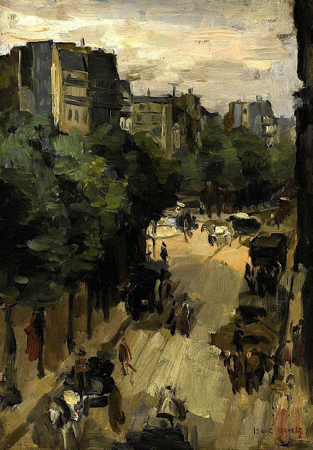 Isaac Israels (1865-1934) Rue Clignancourt, Paris