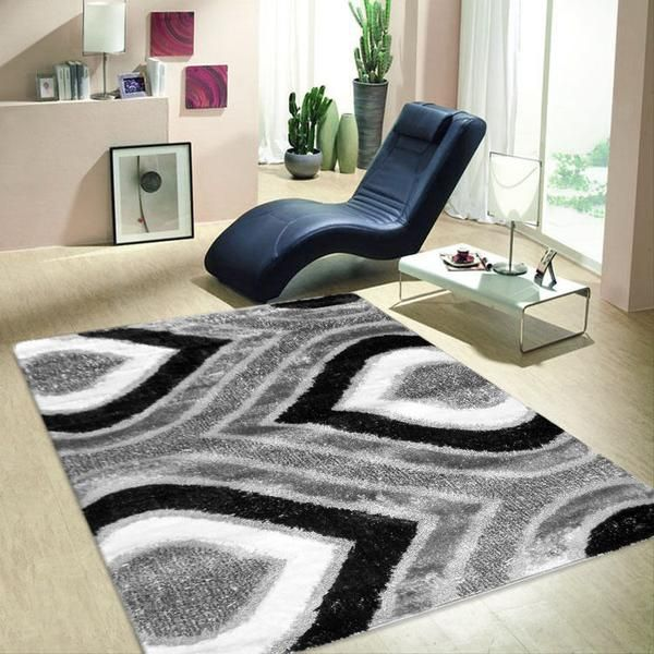 FLUFFY SHAGGY FLAME LUXURY FLOOR RUGS