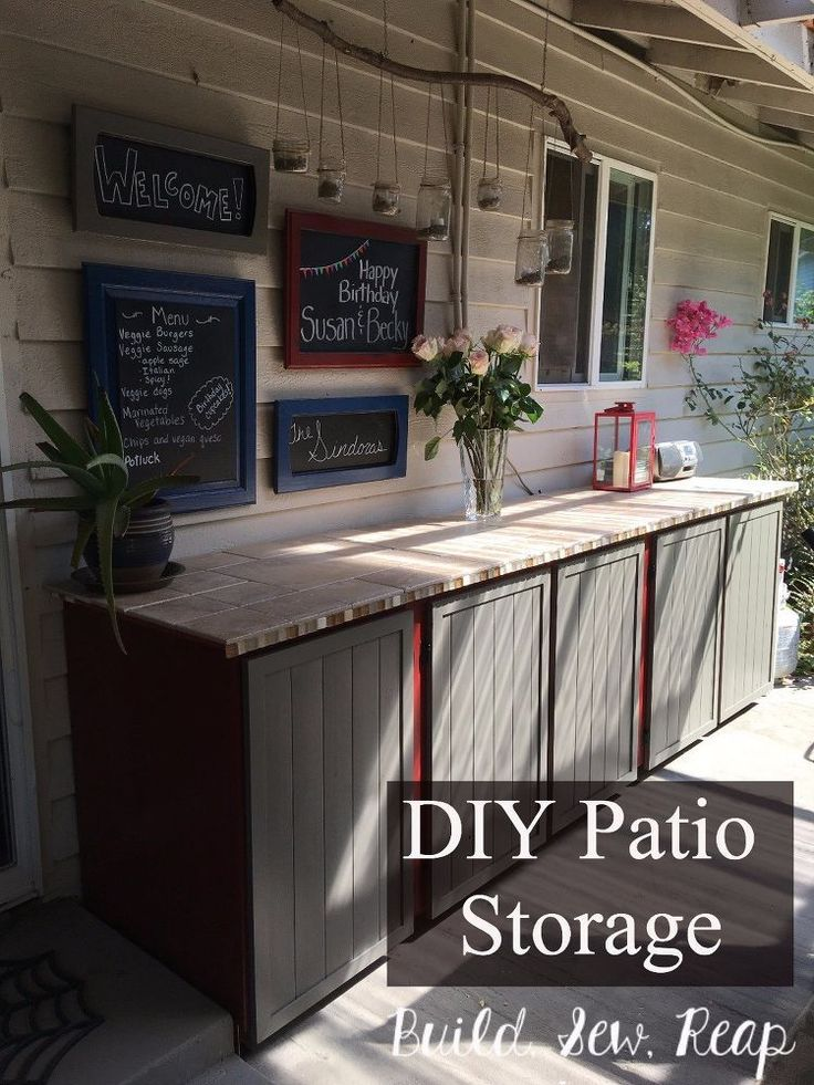 DIY Woodworking Ideas Woman drags 3 old cabinets onto her patio—look at this gorgeous storage idea s...