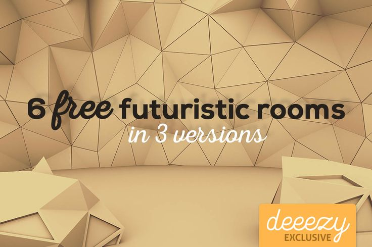 6 Futuristic 3D Rooms – Deeezy – Freebies with Extended License