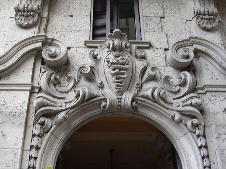 2-Sforzesco Family coat of arms shield on Via Fillippo Cordone #Milan #coat of arms ,ornamental  c.o.a. shields #heraldry #decorative #architecture #ornament  #italy
