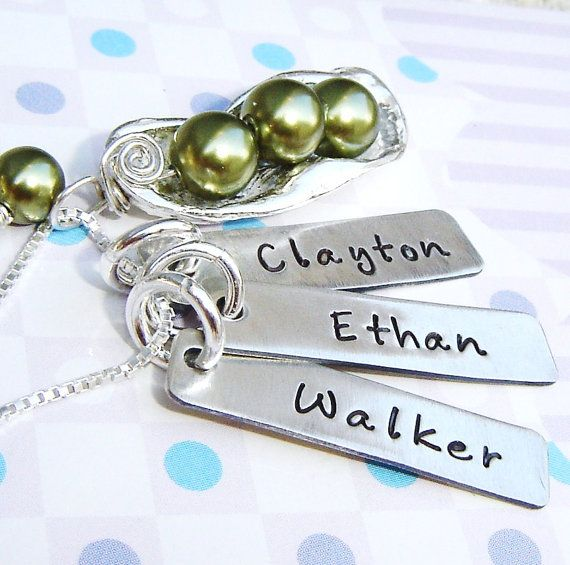 My Three Peas in a Pod.... I have a three peas in a pod necklace, I may need to find the girls names on charms and add them!