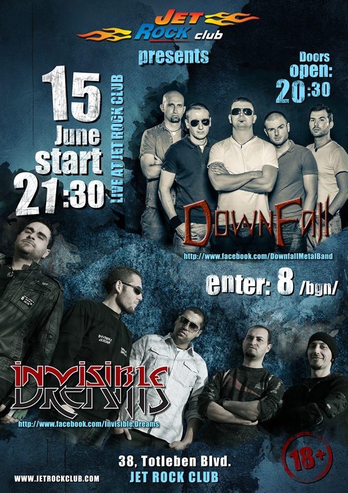 Downfall и Invisible Dreams ще разтърсят сцената на столичния Jet Rock клуб на 15 юни