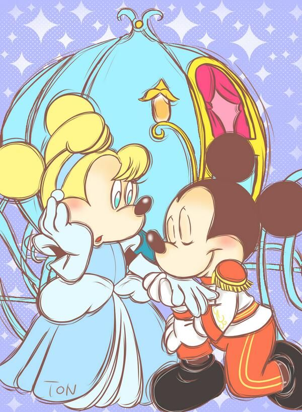 Minnie and Mickey in Cinderella