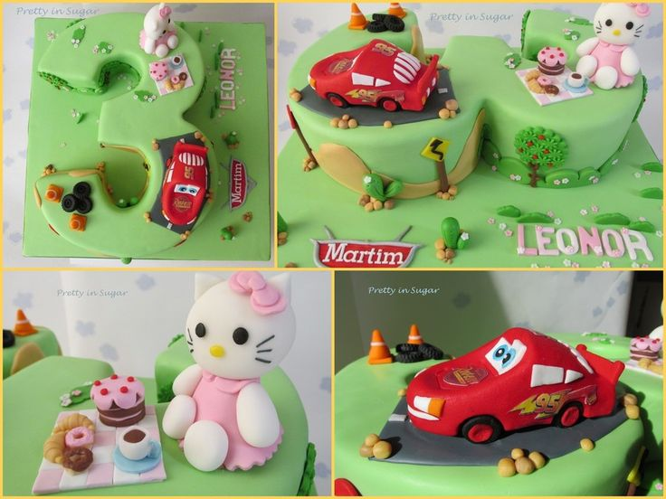 Twins Birthday | Lightning Mcqueen And Hello Kitty