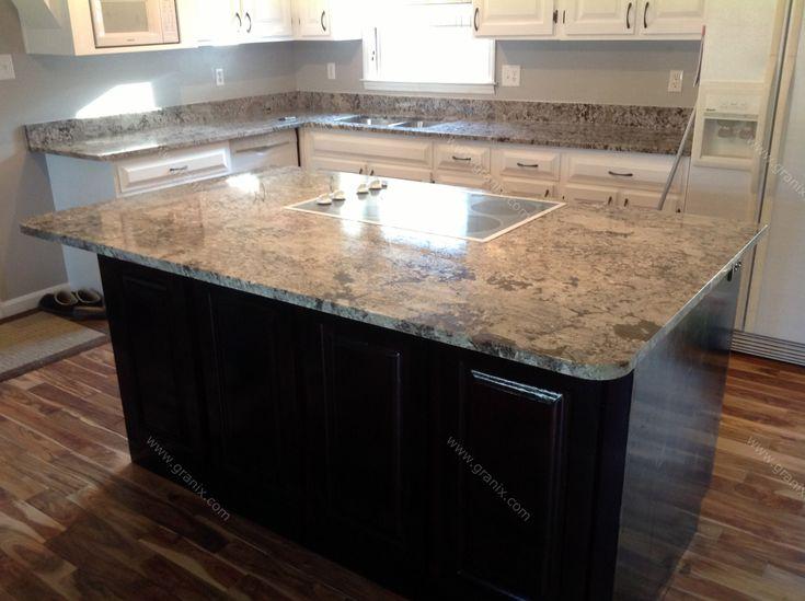 Julie C.   Bianco Antico Granite Kitchen Countertop   Granix