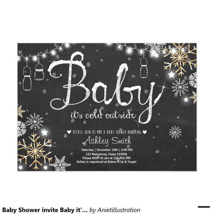 boy baby shower invitations australia%0A Baby Shower invite Baby it u    s cold outside