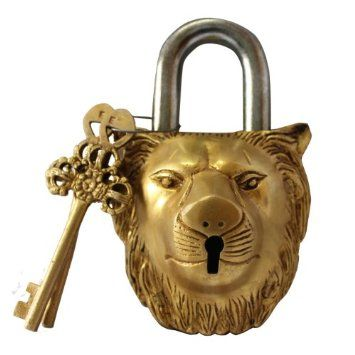 Amazon.com: Lion Head Style Decorative Lock with Two Keys Made in Brass: Home & Kitchen