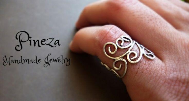 handmade | myartshop Ασημένιο δαχτυλίδι για το μικρό δάχτυλο