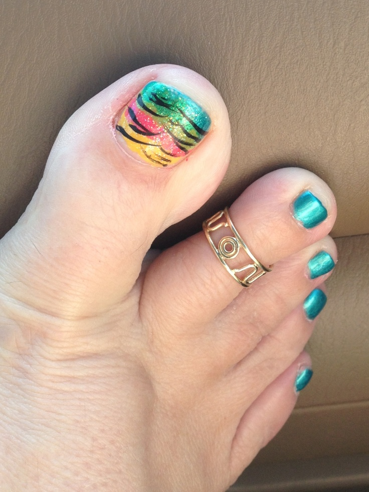 easy nails for summer toes