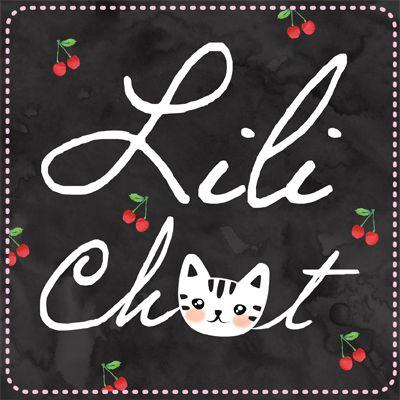 Logo LiliChat, motifs textiles frais et colorés ! @soniasalez