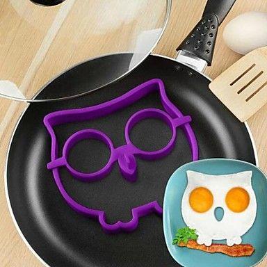 cartone animato gufo anello forma di uovo friggere, materiale del silicone, colori casuali – EUR € 2.57