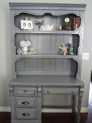 Refinished in storm cloud with light distressing and heavy glaze by European Paint Finishes