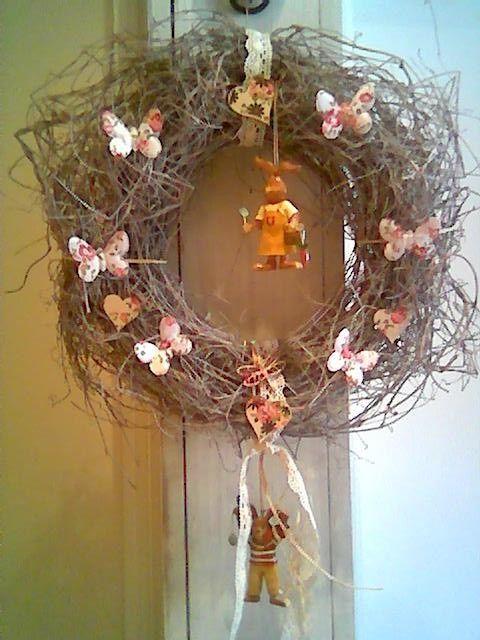 Easter door wreath_DIY