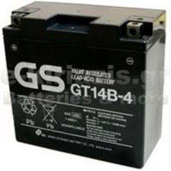 Μπαταρία μοτοσυκλετών GS AGM (factory activated) GT14-B4 - 12V 12Ah (10HR) - 210 CCA(EN) εκκίνησης