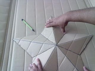 Knocking it off...: Faux Tin Star (cardboard)
