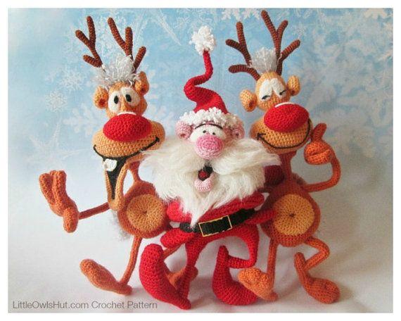 S02NLY Kerstman en Rendieren 2 Amigurumi door LittleOwlsHutNL