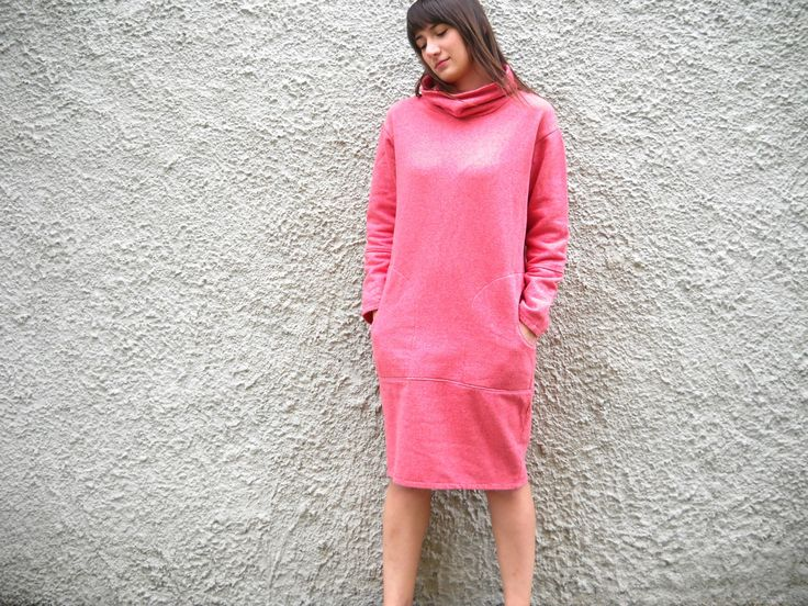 Watermelon pink cocoon dress http://wp.me/p4OV6a-46