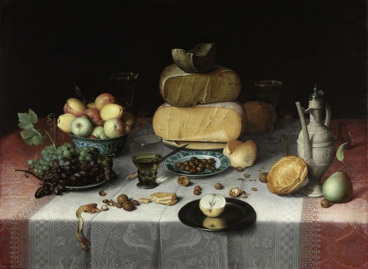 Still Life with Cheese, Floris Claesz. van Dijck, c. 1615