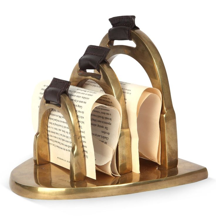 Stirrup Letter Holder - Antique Brass | Culinary Concepts