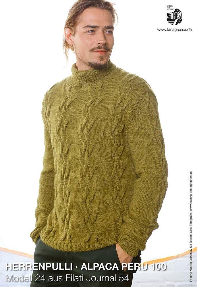 Herbstmode 2017 gestrickte Herren Pullover Muster