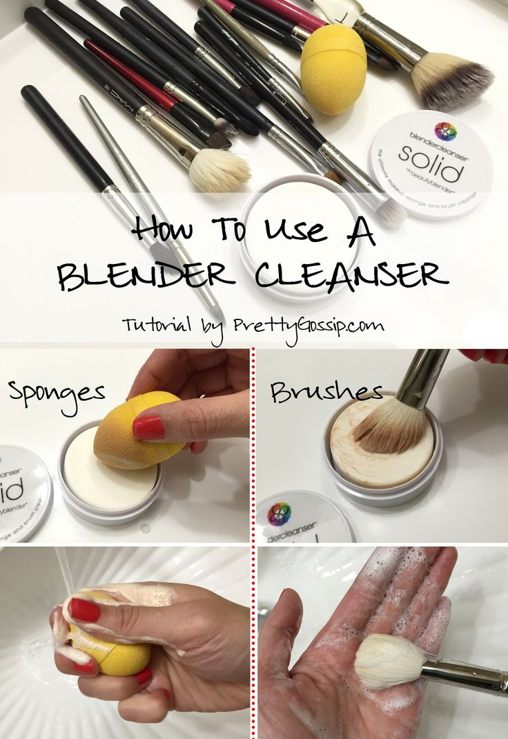 how to clean makeup sponges with vinegar