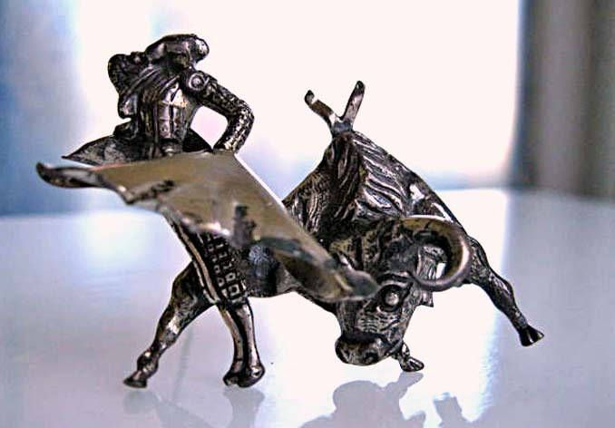 Matador and Bull Brooch, Sterling Marcel Boucher Parisina, Taxco Mexico 1940s, Dimensional Figural Bullfighter Corrida de Toros by GemParlor on Etsy