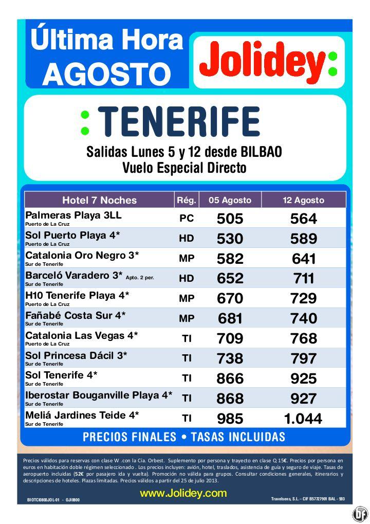 Tenerife Oferta Ultima Hora desde 505€ Tax incl.- 7 Noches Desde BIO, salidas Lunes 5 y 12 de Ago - http://zocotours.com/tenerife-oferta-ultima-hora-desde-505e-tax-incl-7-noches-desde-bio-salidas-lunes-5-y-12-de-ago/