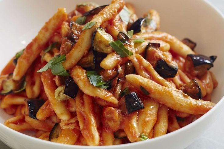 Cavatelli Eggplant Smoked Mozzarella recipe by Giada De Laurentiis
