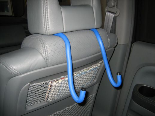 "Make your own portable DVD player holder for your car. Purchase ""kwuik twists"" from Lowes. Great for propping up am ipad."