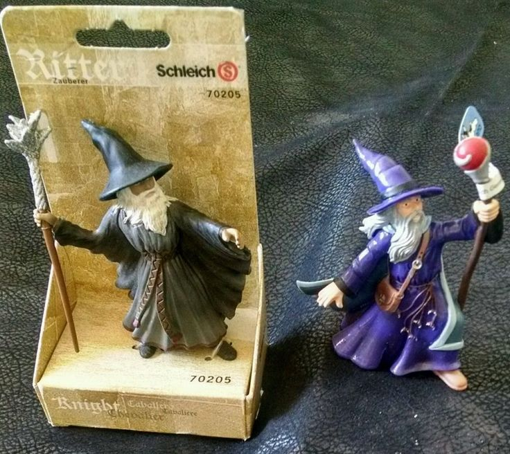 Schleich Ritter & Bullyland Sorcerer Fantasy 70205 Wizard Merlin Elarion Lot #SchleichBullyland