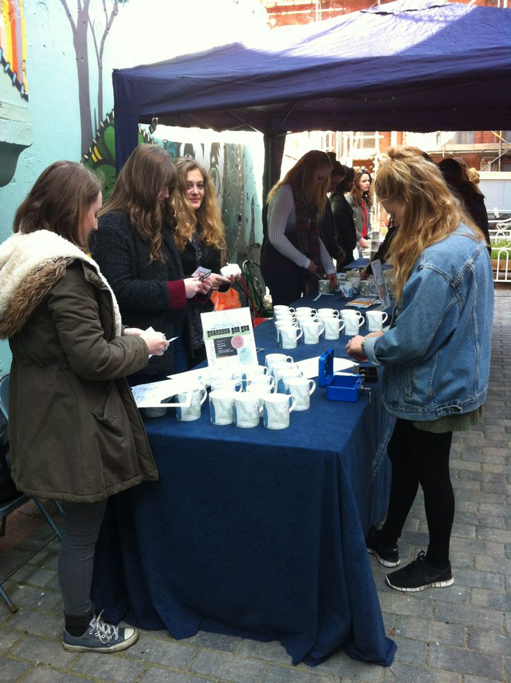 #TMSR - the students selling their mugs at Cobden Chambers