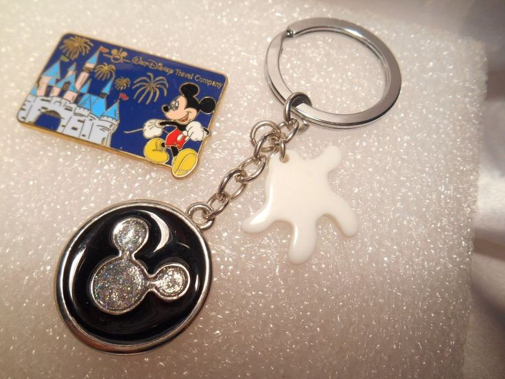 Walt Disney Travel Company Collector Pin and Mickey Mouse Disney Key Chain #Disney