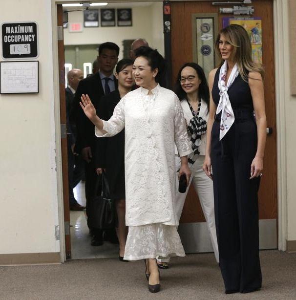 First Lady Trump and Madame Peng liyuan de la Chine