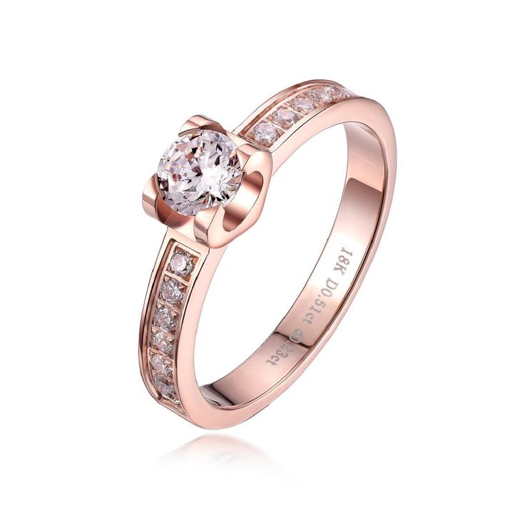 female titanium plated 18k rose gold CZ crystal ring fashion lovers wedding gift christmas passion,antiallergic IF-R024