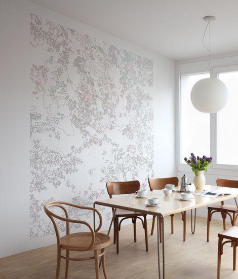 Digital floral, Romantik 2010. Prunkvolles Weiss, Konturen lösen sich auf. Der leichte Le Blanc, Punkt für Punkt ein virtuoser Begleiter. Material:..