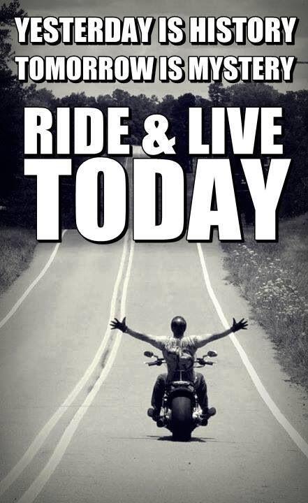 El ayer es historia... El mañana un misterio.... Cafe racer y vive el ahora!!!!