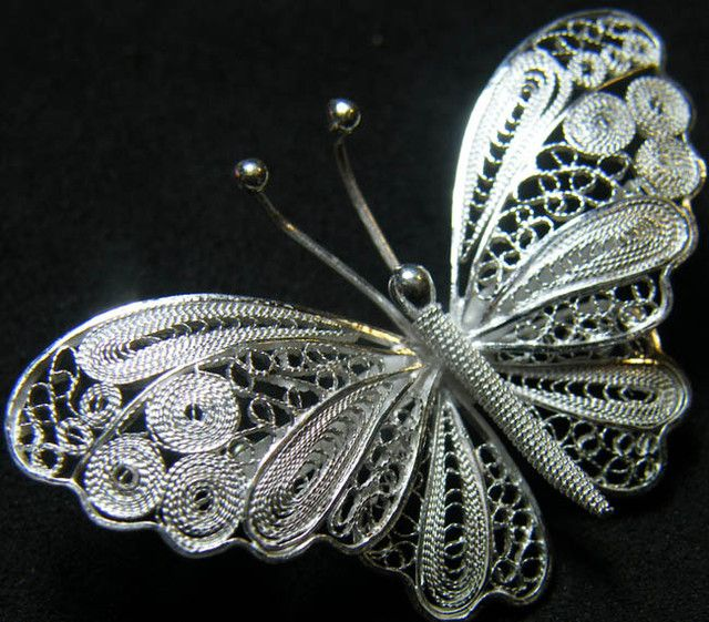 MODERN DESIGN STERLING SILVER PIN 30 CTS[SPS3]