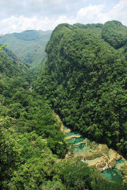 Semuc Champey Falls, Coban, Guatemala
