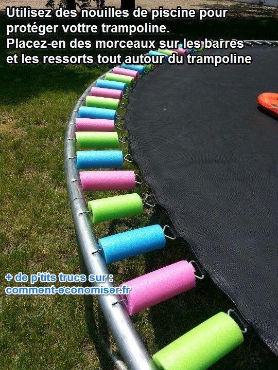 Enfin une Astuce Pour Sécuriser un Trampoline.
