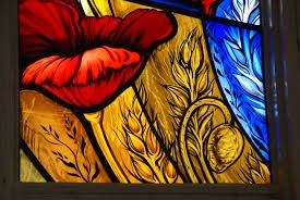 Image result for fall flowers stained glass