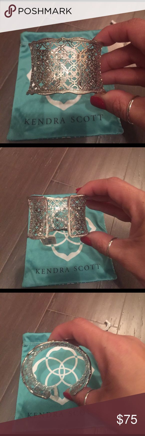 Kendra Scott Candice Bracelet Kendra Scott Candice Bracelet. Never worn. All silver. Please check my closet for matching earrings. Kendra Scott Jewelry Bracelets