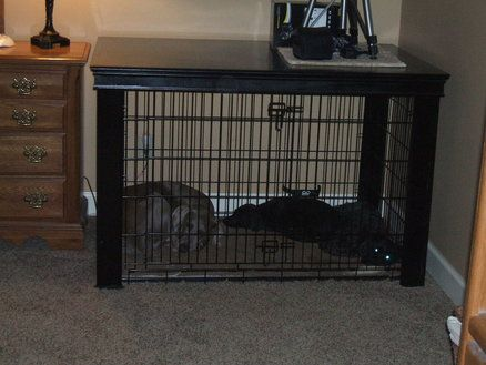 Extra Large Dog Crate Table Over