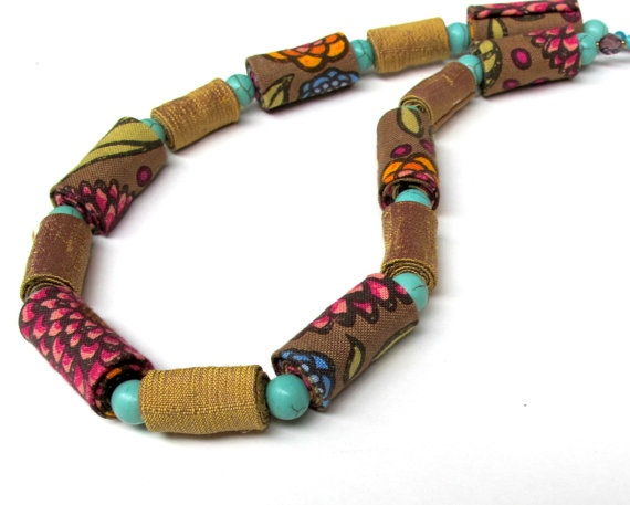 Spring Blossom exclusive fiber necklace by Gilgulim on Etsy, $56.00
