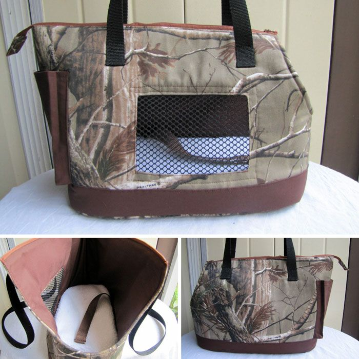Large Dog Carrier made with Realtree Camo