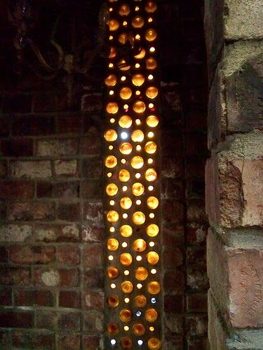 The Art Of Up-Cycling: Bottle Wall Art- Who Knew Bottles Are So Versitle....