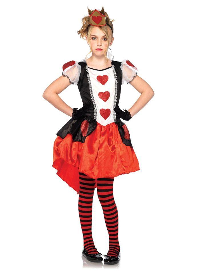 Wonderland Queen Girls Dress by Leg Avenue
